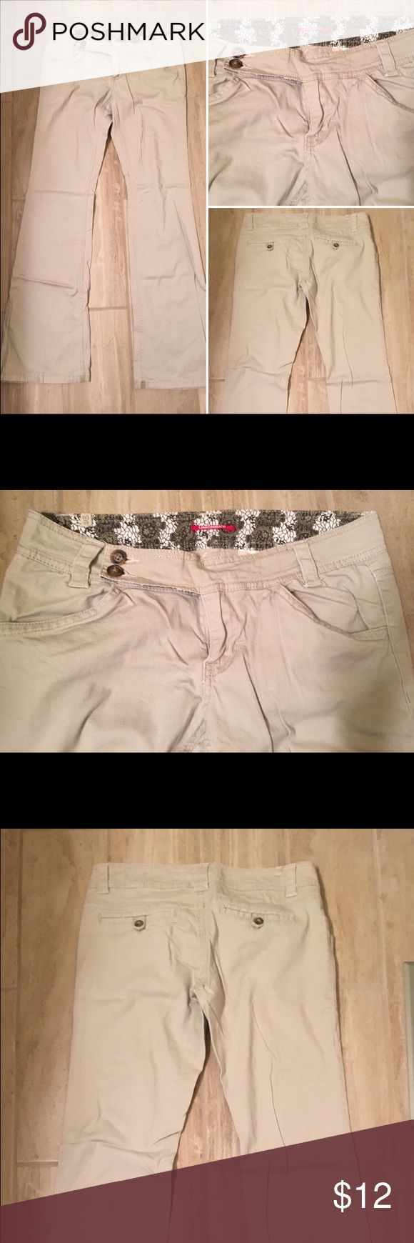 Bootcut khaki pants for juniors
