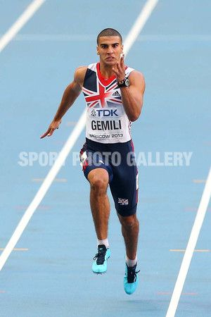 Adam Gemili of Great Britain breaks the 20 second barrier in the Men's 200 metres semi finals during Day Seven of the 14th IAAF World Athletics Championships Moscow 2013 at Luzhniki Stadium at Luzhniki Stadium on August 16, 2013 in Moscow, Russia.  (Photo by Mark Kolbe/Getty Images)