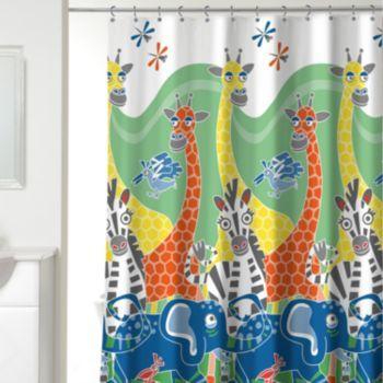 Zany Zoo Fabric Shower Curtain Kohls Bathroom Ideas