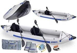 Sea Eagle 385ft 12.6ft Inflatable 2 Person Kayak Pro Package