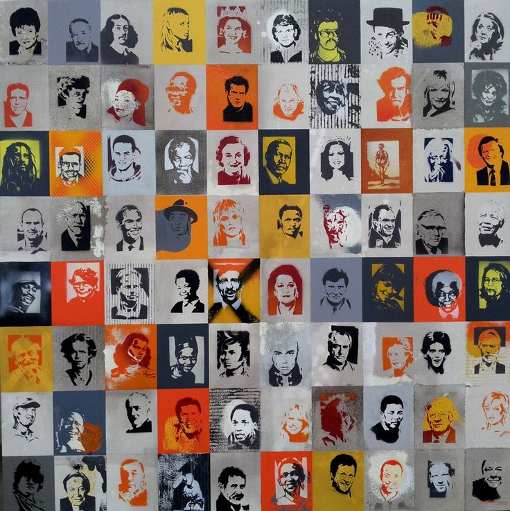 Gold - Alex Hamilton, Hand Cut Stencils, Spray Paint and Acrylic on Canvas, 1.2m x 1.2m