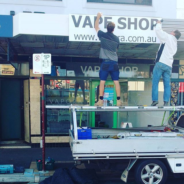 New signage! #vapeshop #melbournevapers