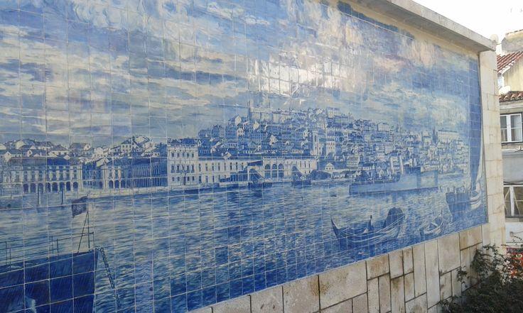 Lisbon Tiles. Miradouro de Stª Luzia. Alfama - Lisbon.