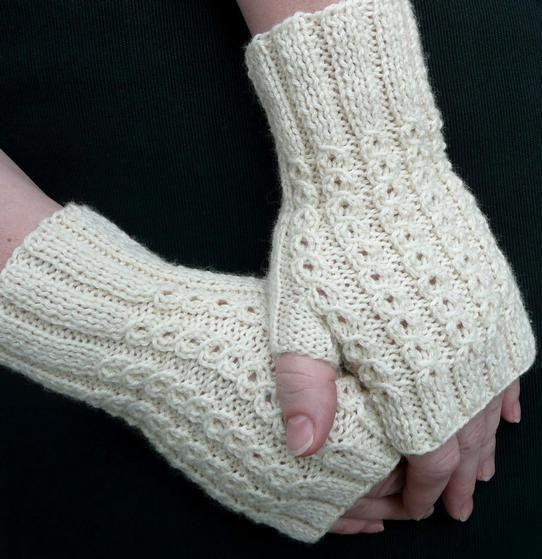BonBons Fingerless Mitts - Knitting Patterns and Crochet Patterns from KnitPicks.com