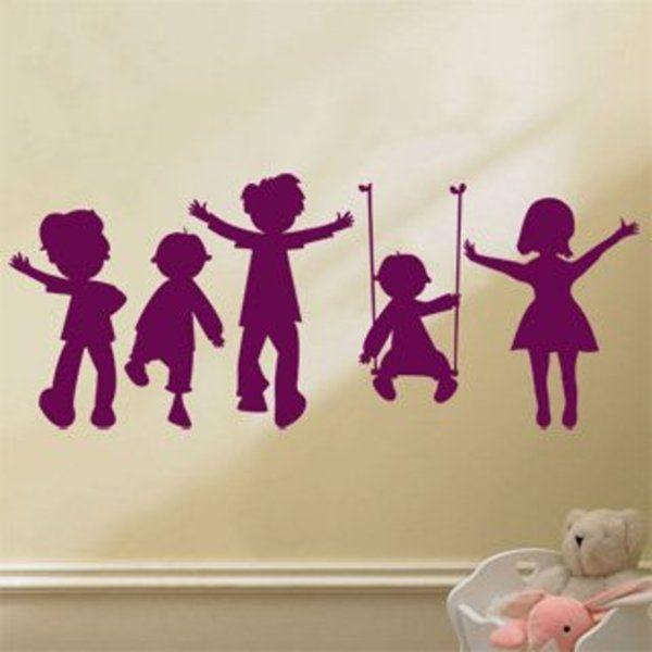 Samolepka Hravé děti 002 na zeď