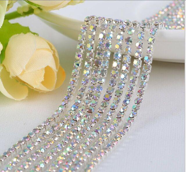 Clear AB 17mm Sew On Stitch JEWEL GEM CRYSTAL RHINESTONE Bead Crystal DANCE