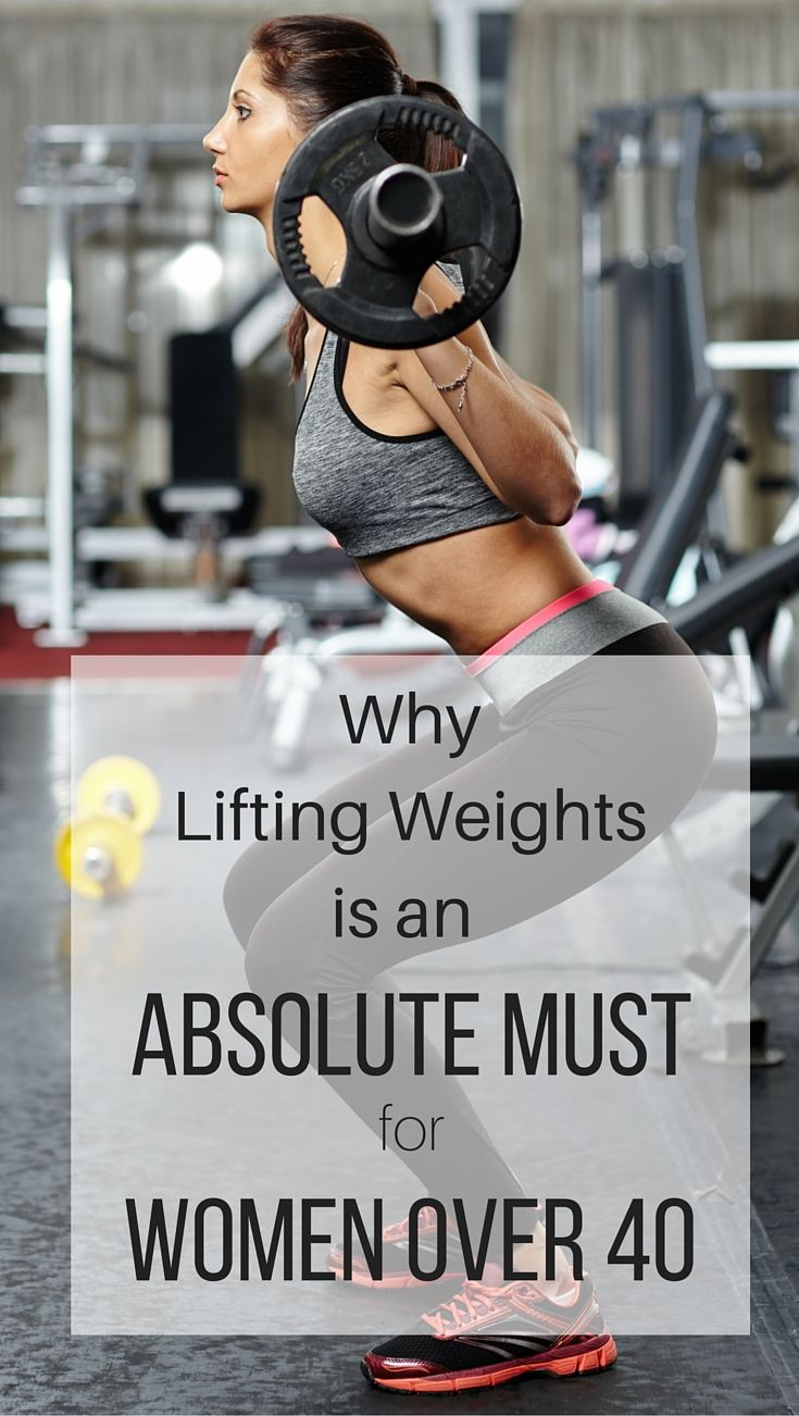 I did not realize lifting weights was so important for women over 40!