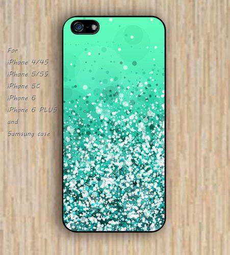iPhone 5s 6 case sparkle teal blue dream phone case iphone case,ipod case,samsung galaxy case available plastic rubber case waterproof B731