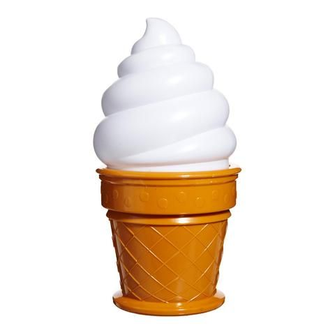 Ice-cream night light, white