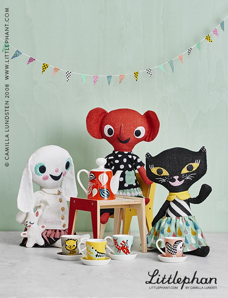 Littlephant CREATIVE PLAY Let your kids discover their own creativity with Linen Dolls designed by Camilla Lundsten.  Available at www.littlephant.com (©Camilla Lundsten 2008)