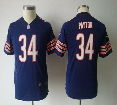 009effa79 ... Nike Bears 34 Walter Payton Navy Blue Team Color Youth NFL Game Jersey  prices USD .