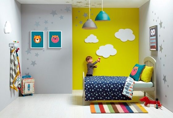 Colourful toddler room