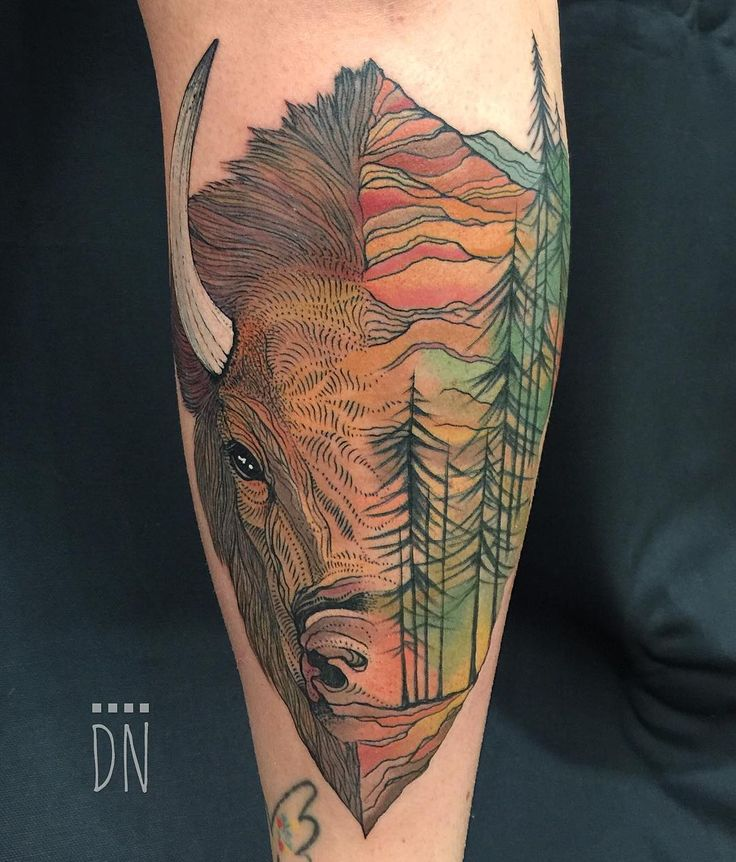 Best 25 buffalo tattoo ideas on pinterest bison tattoo for How much is a prinker tattoo