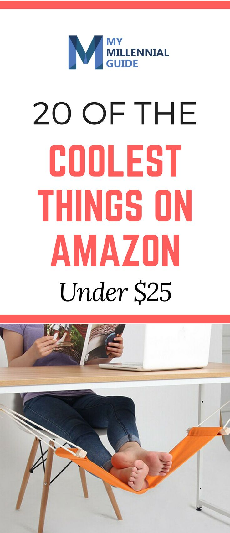 20 of the Coolest Things to Buy on Amazon Under $25. They all will be able to ship to you under two days if you have Amazon Prime. These can also serve as a nice gift for a friend or coworker.