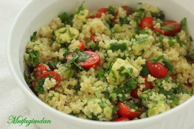 Mutfağımdan: Avokadolu Kinoa (Quinoa) Salatasi