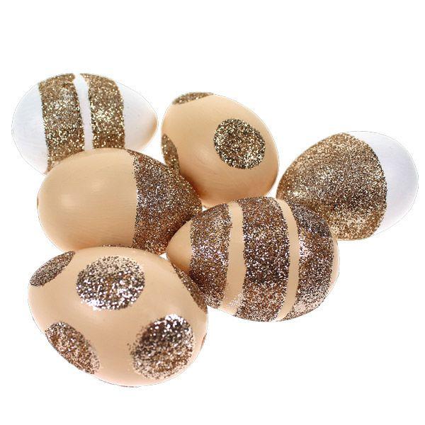 Kauniit kimallemunat syntyvät decoupagelakan ja kimallejauheiden avulla. Tarvikkeet ja ideat Sinellistä!