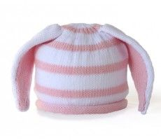 striped bunny ears baby hat