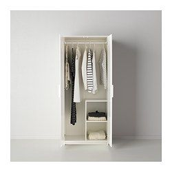 BRIMNES Wardrobe with 2 doors - IKEA 2 of these perfect size for space upstairs