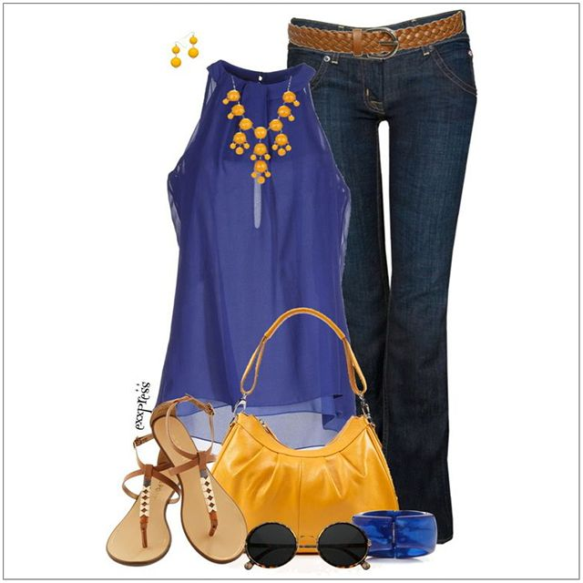 CHATA'S DAILY TIP: These bold, bright colours are straight off the catwalk and so on-trend for summer. Team royal blue and summer gold with denims and sandals for casual weekend wear. Replace denims with navy Capri pants and heels for the office. COPY CREDIT: Chata Romano Image Consultant, Karyn Lindes http://chataromano.com/consultant/karyn-lindes/ IMAGE CREDIT: Pinterest #chataromano #imageconsultant #colour #style #fashion