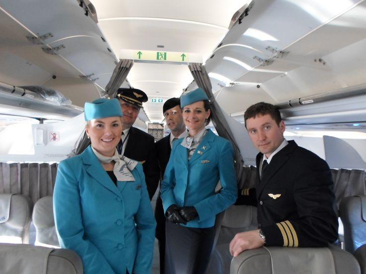 Adria Airways crew on the Airbus A319 from Ljubljana to Moscow.