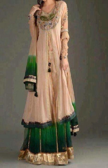 Adorable long Pakistani ladies dress inspiration   Fashion World