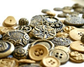 Edible Chocolate Candy Brass Buttons (Antique Inspired) Sample Order of 50