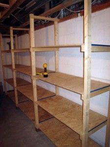 17 best ideas about basement storage shelves on pinterest - Cheap storage shelves diy ...