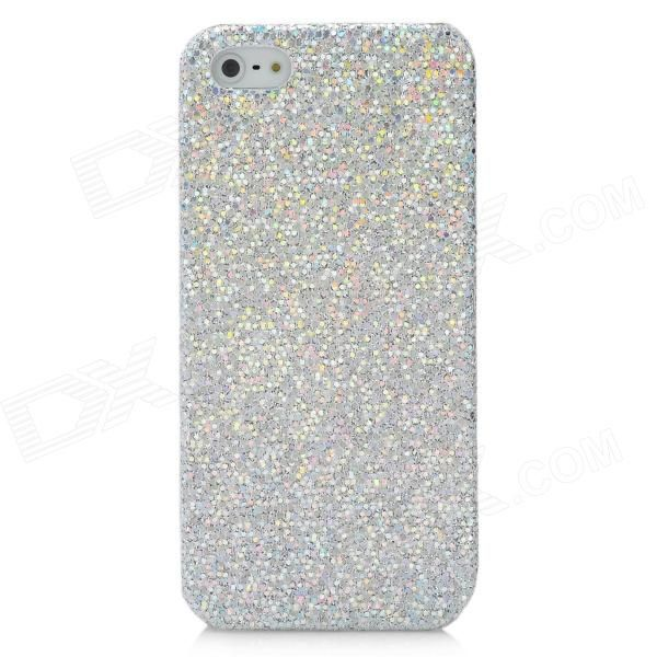 Quantity: 1 Piece; Color: Silver; Material: Plastic; Type: Back Cases; Compatible Models: Iphone 5; Other Features: With glittery paillette very fashion; Protects your Iphone from scratches dust and shocks; Packing List: 1 x Back case; http://j.mp/VFYW6q