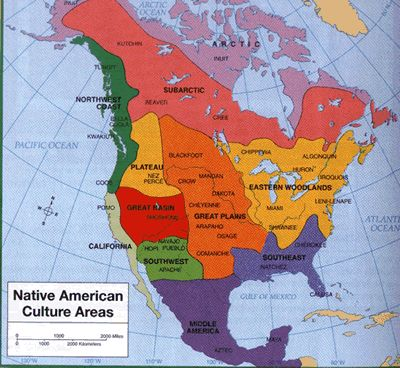 Us Cultures Map Globalinterco - Us native american map