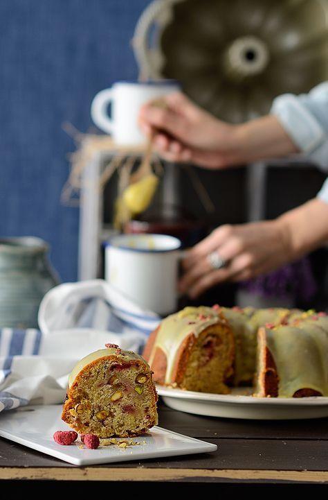 ¡Qué cosa tan dulce!: Bundt cake de pistacho y frambuesas