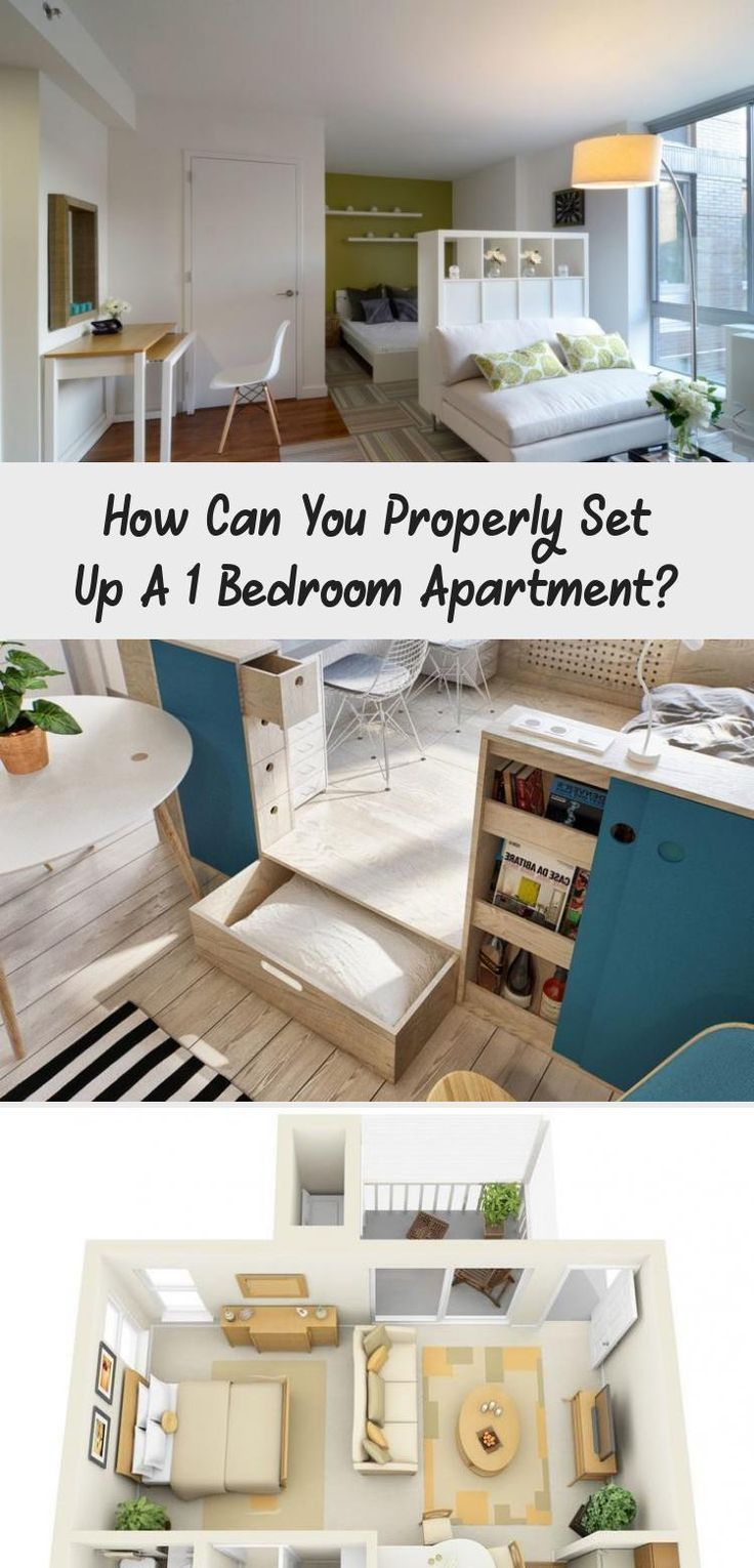 How Can You Properly Set Up A 1 Bedroom Apartment Uxdesign Kitchendesign Fashioncowo Bedroom Apartment Simple Apartment Decor Chic Apartment Decor
