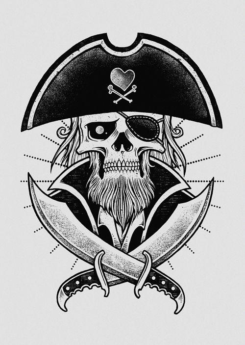 Love Pirate by inkcorf, via Behance