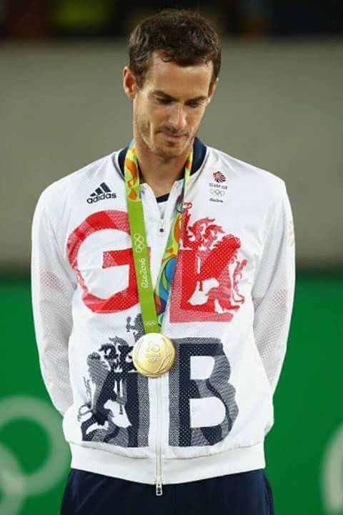 Andy Murray.GOLD MEDAL.  14/8/2016. Rio Olympics.
