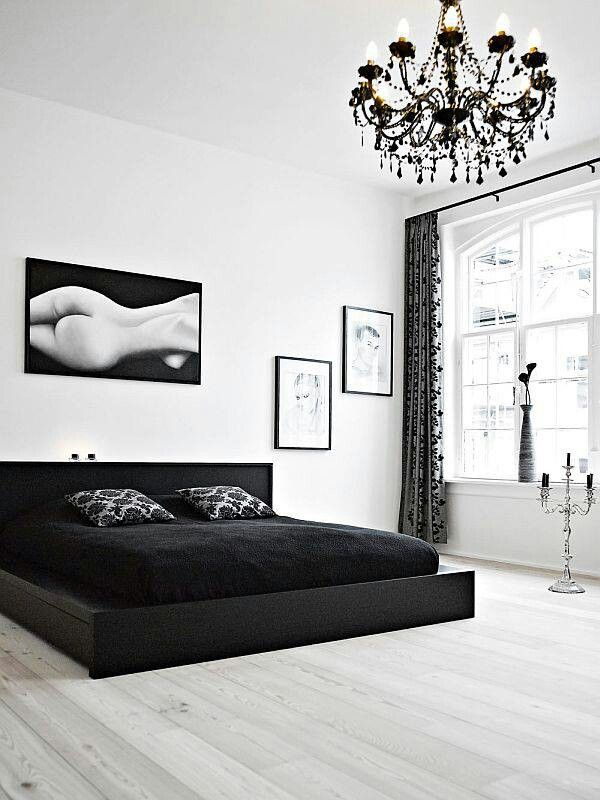 Black And White Love The Low Bed