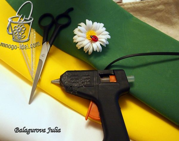 Ромашка мастер класс | Цветы из фома