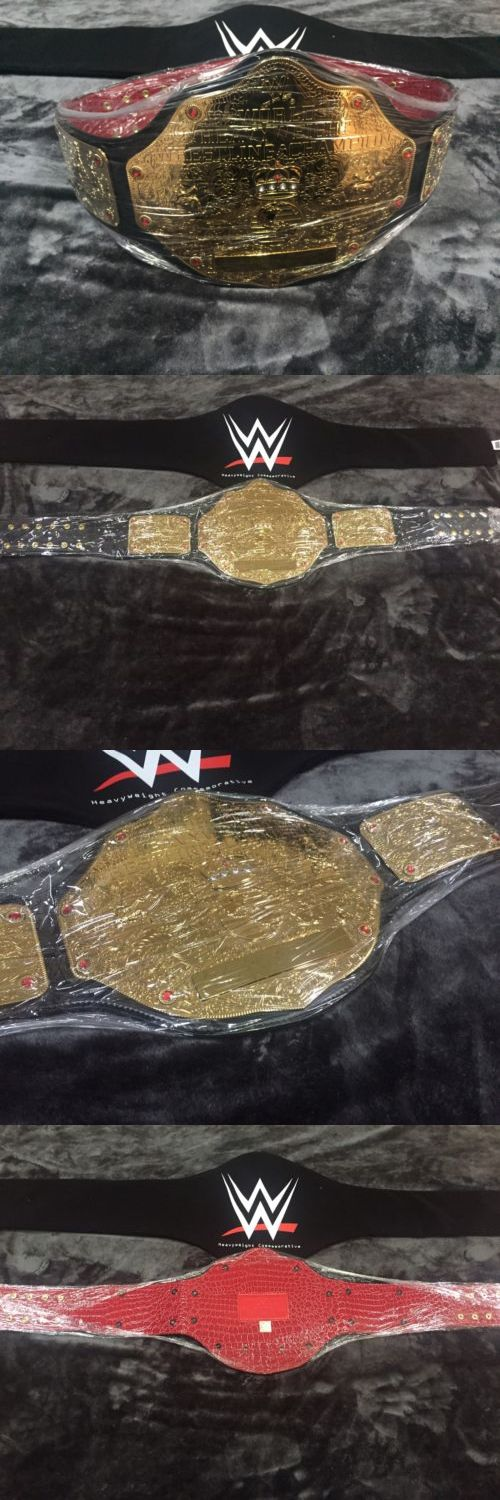 Wrestling 2902: Wwe Big Gold World Heavyweight Championship Wrestling Belt Red Croc Custom Plate -> BUY IT NOW ONLY: $179.99 on eBay!