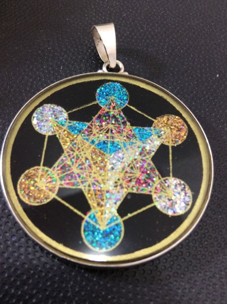 Metatrons cube pendant necklace 1 5 8 tourmaline sterling for Metatron s cube jewelry