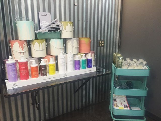 We are getting our Fabulous mixing bar ready to share with you on Monday! Fabuloso is an in-salon color refresh and maintenance system- enabling you to refresh, intensify and maintain your hair color in between color services. We are so excited to share this with you! #facesalamode #evohair #fabuloso #fabulosopro #newproduct