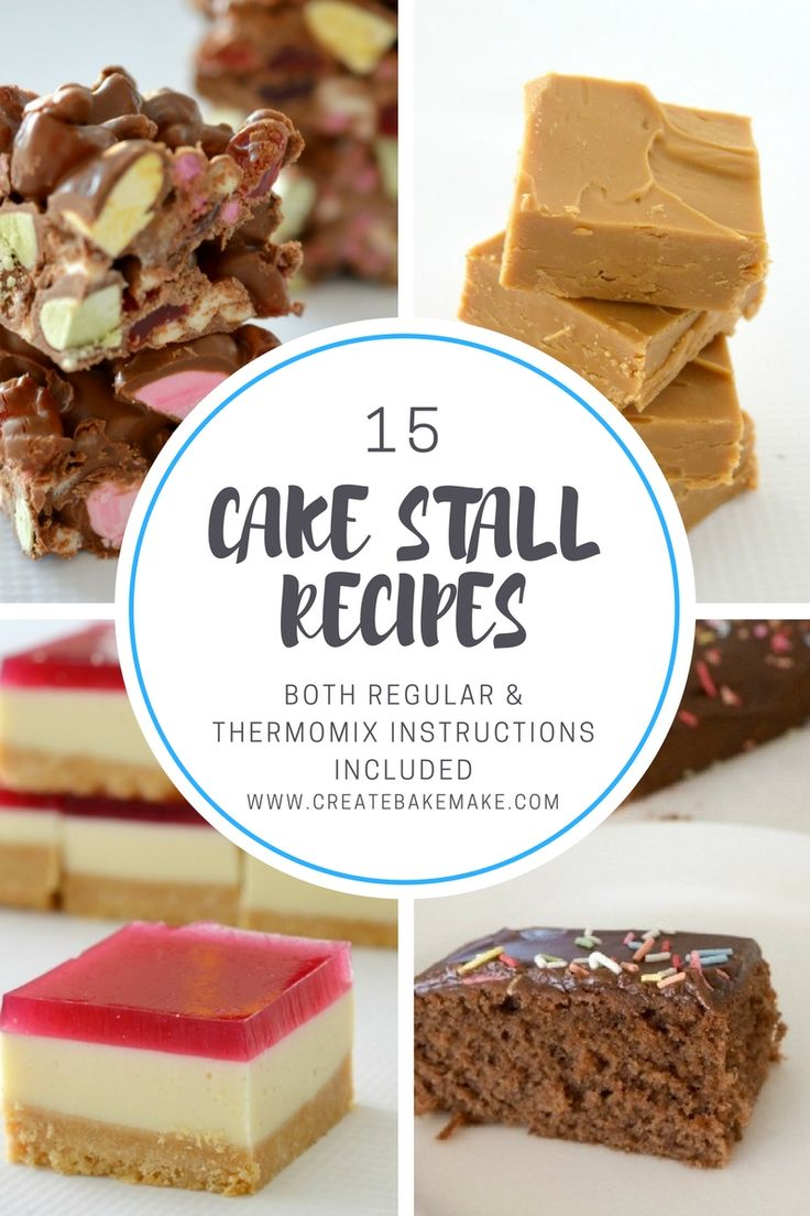 These 15 classic cake stall recipes are sure to bring back some childhood memories for you and they are all great recipes to also make with your own kids, just make sure there is enough left to send along to the cake stall!  Thermomix instructions area also available for all of these recipes too - enjoy!