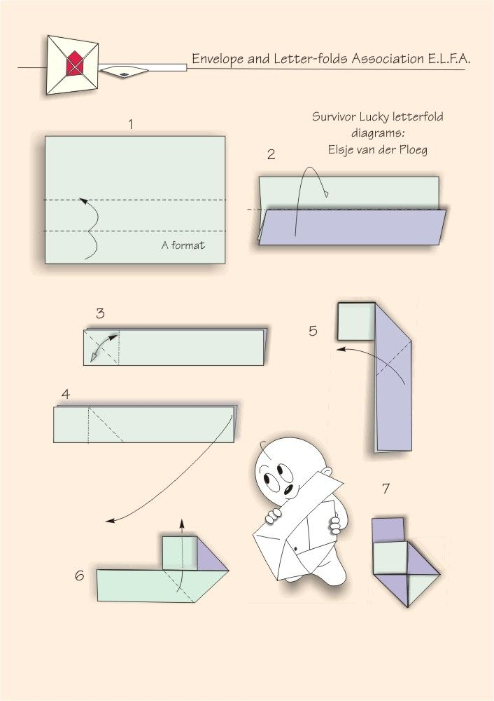 Best Letter Folding Images On   Origami Envelope