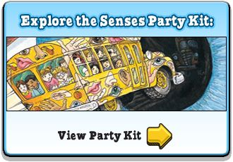 Magic School Bus | Party Kits | Scholastic.com --tons of activities and science experiments plus the party kits have name tags and everything!
