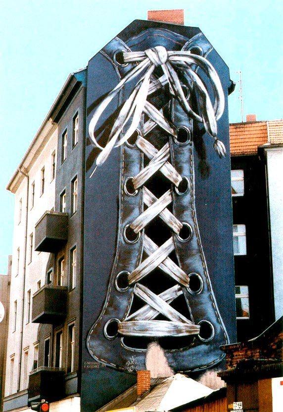 nike 5 0 running shoes boys Berlin   By  Gert Neuhaus   Street Art  amp  Alternative Art      Berlin  Street Art and Germany