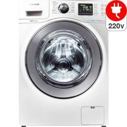 Lavadora e Secadora de roupas Samsung Front Load WD106UHSAWQFAZ 10,1kg Branca 220v, Exibição de Tempo Restante, Classificação Energética A | Novo Mundo