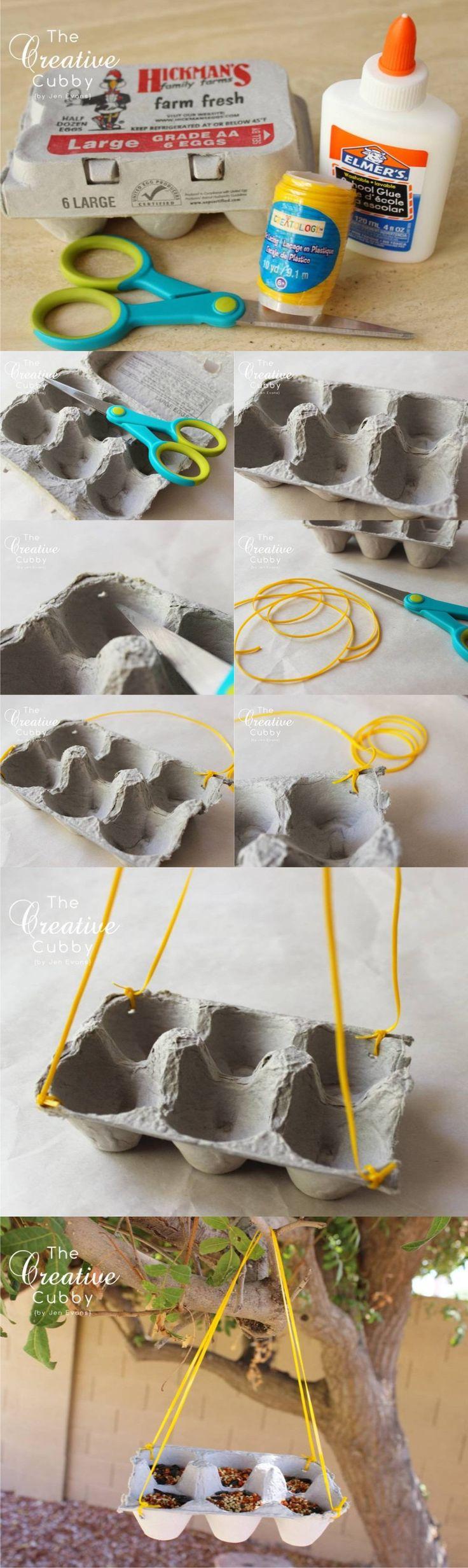 Comedero DIY para pájaros - thecreativecubby.blogspot.com