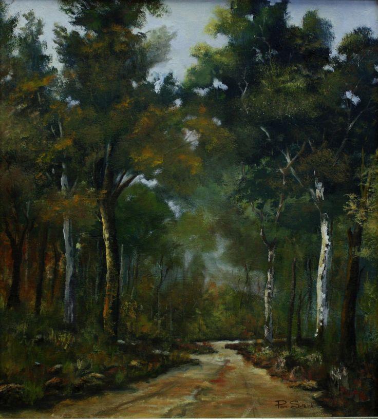 Woodland Walk.  70 x 77cm.  Oil on canvas