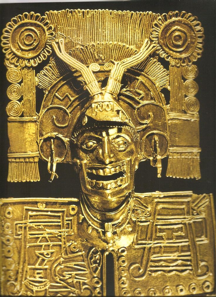 pectoral en or à l'effigie de Mictlantecuhtli, Monte Alban ...