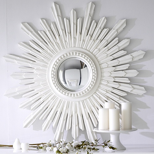 WHITE SUNBURST MIRROR - First one I like - why oh why are these things so popular?  But Ella wants one . . .