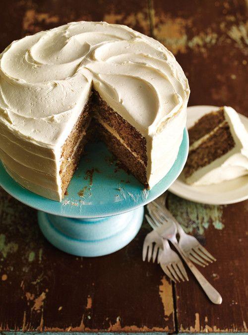 Gâteau aux pacanes  et crème au beurre au miel