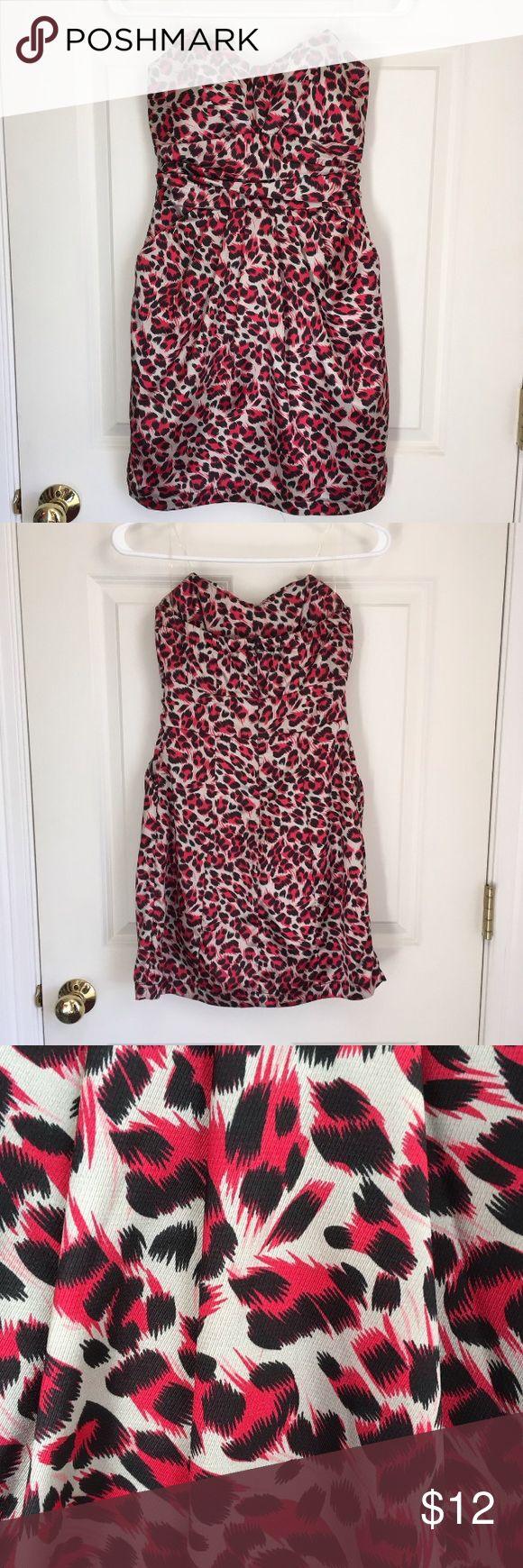 Animal print formal dress Charlotte Russe animal print formal dress. Size 0, worn once! Charlotte Russe Dresses Strapless