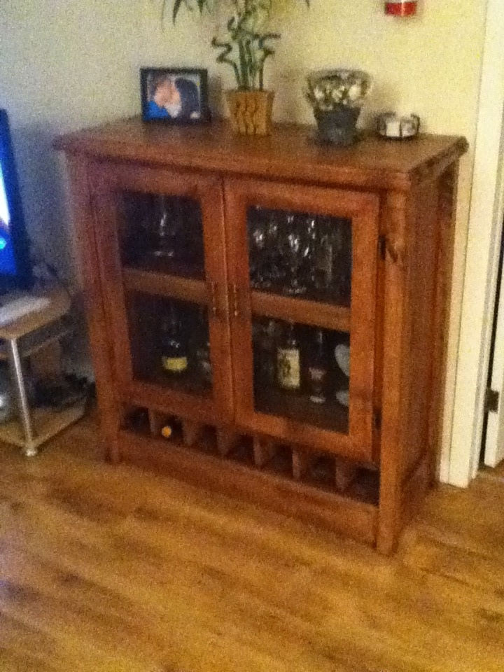 Great Alcohol cabinet home made with old wood